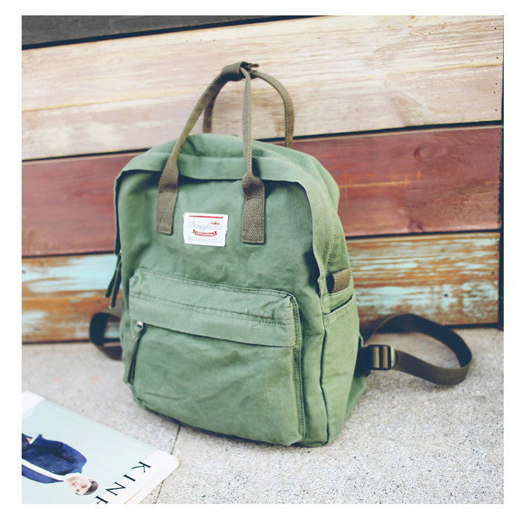 Casual Canvas Shoulder Women Backpack