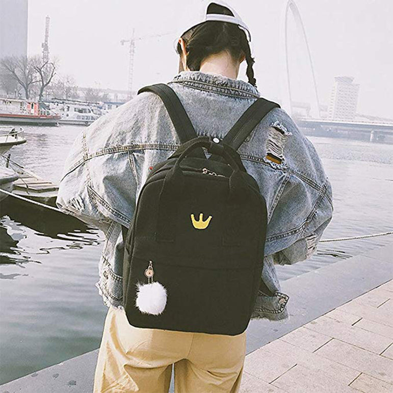 Canvas Kawaii Women Backpack