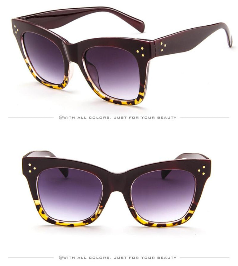 Leopard Vintage Cat Eye Sunglasses