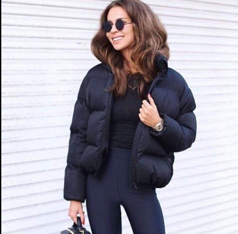 Collar Oversized Bubble Coat Short Jacket