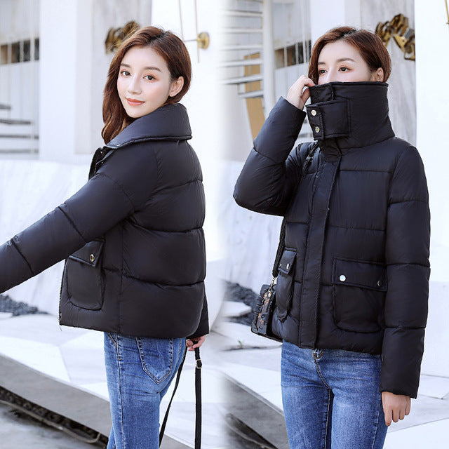Thick Warm  Cotton padded Parkas Jacket