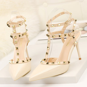 Luxury Rivet Office High Heels