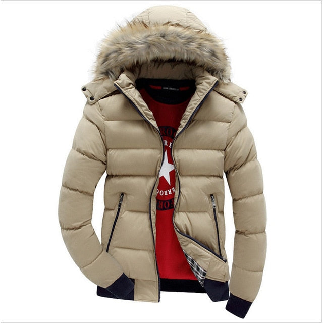 Casual Hooded Warm Fur Parka Jacket