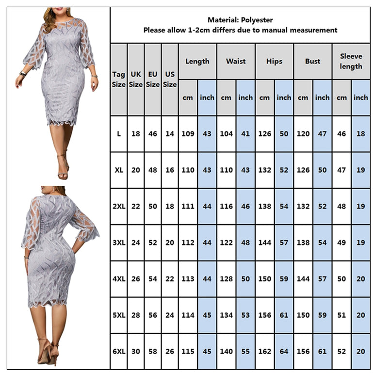 Elegant Women Retro Seven Sleeve Party Dress