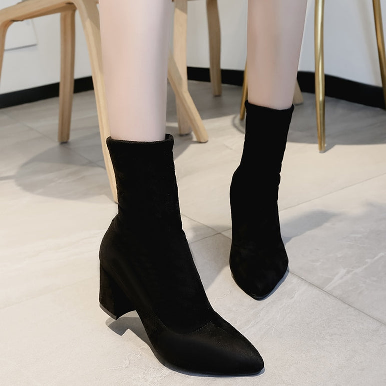 Casual Comfortable Sweet Flock Boots