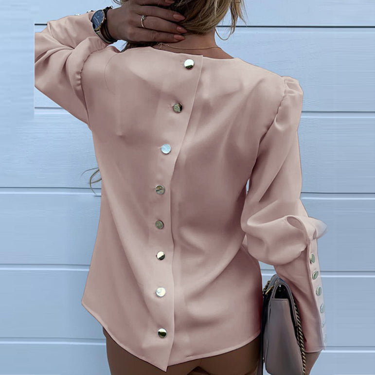 Casual Work Wear Long Sleeve Blouses