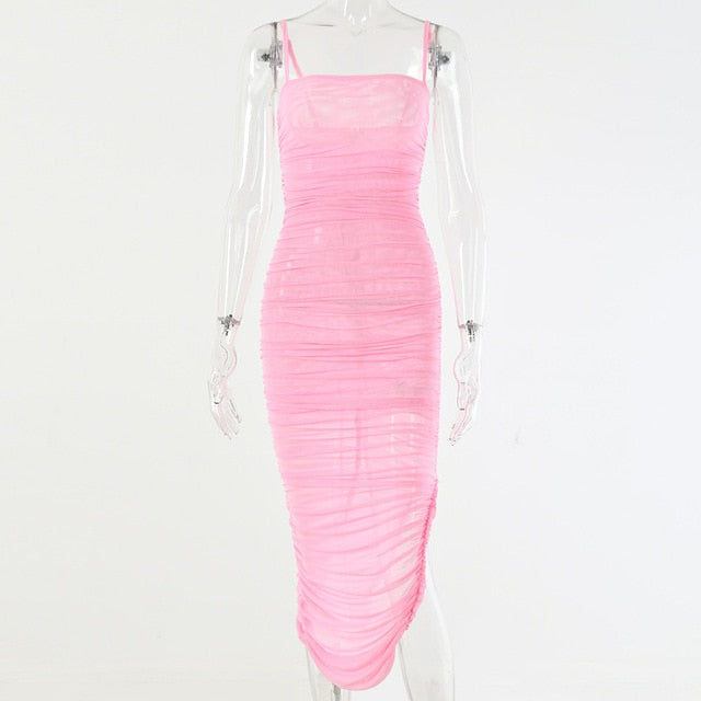 Elegant Strapless Sheer Club Wear Party Dress