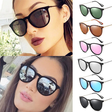 Luxury Rose Mirror Polarized Vintage Shades Sunglasses