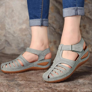 Casual Leather Vintage Buckle Sandals