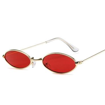 Retro Metal Frame Vintage Oval Sunglasses