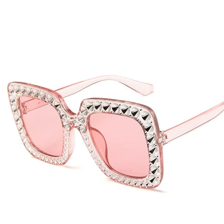 Flash Square Shades Shining Diamond Sunglasses