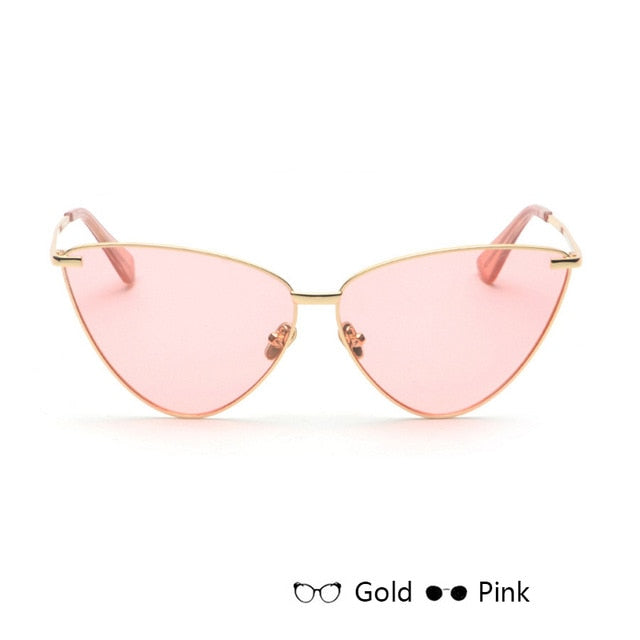 Cat Eye Retro Vintage Mirror Women Sun Glasses