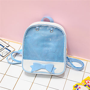 Cute Bow Transparent Women Backpack