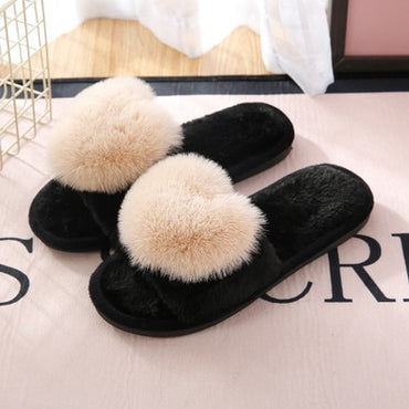 Non-Slip Floor Home Furry Women Slippers