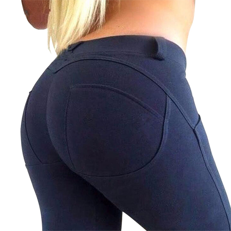 Leggings High Push Up Elastic Low Waist Leggings