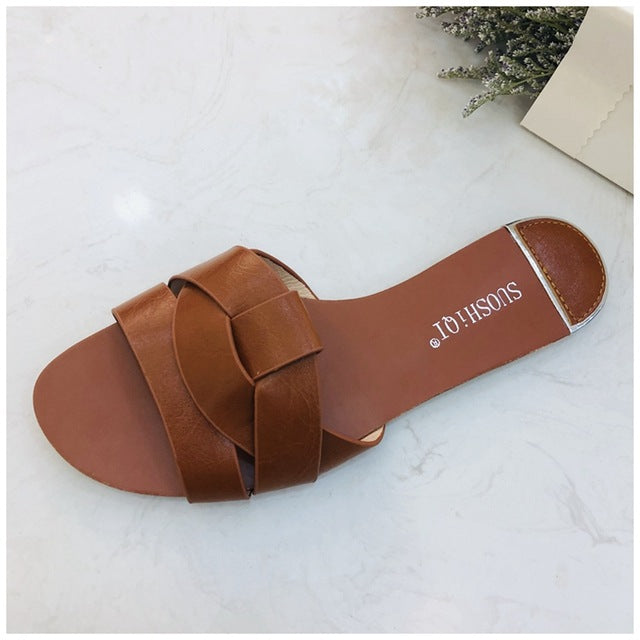 Outdoor Flat Women Slipper