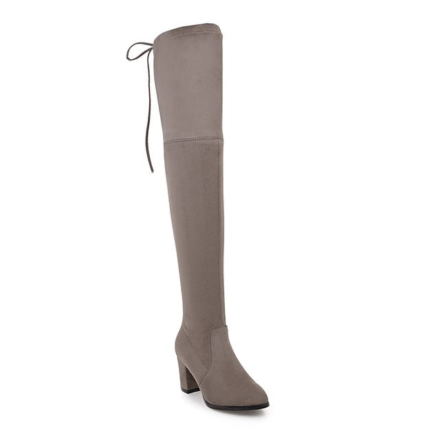 Over The Knee Square High Heel Women Boots