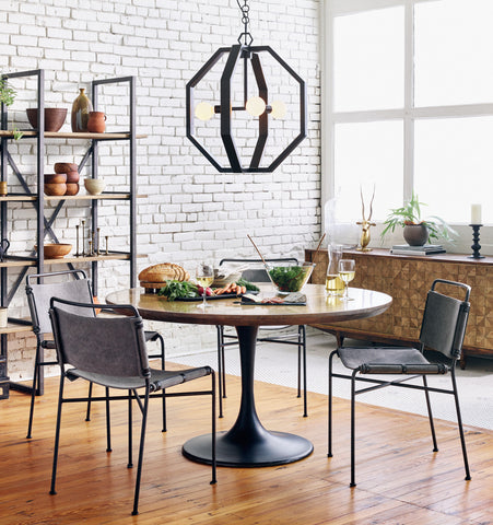 "Four Hands Powell 55"" Round Dining Table"