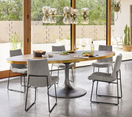 Wondrous Four Hands Evans Oval Dining Table Theyellowbook Wood Chair Design Ideas Theyellowbookinfo