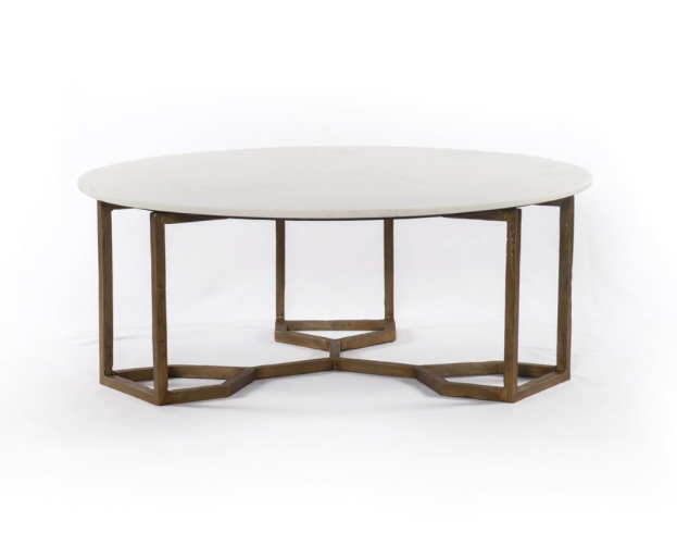 Pleasant Four Hands Naomi Coffee Table Marble Caraccident5 Cool Chair Designs And Ideas Caraccident5Info