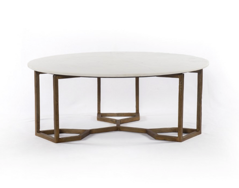 Four Hands Naomi Coffee Table Marble
