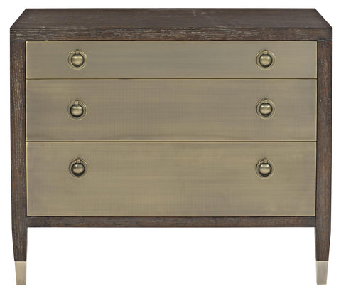 Bernhardt Clarendon 3 Drawer Metal Front Nightstand