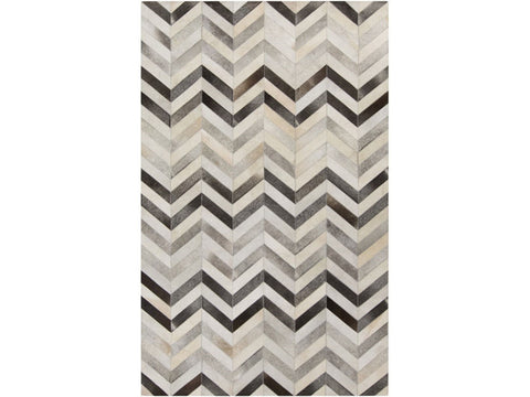 Trail Chevron Pattern Cowhide Rug