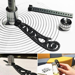Limited Time Sale Offer - Versatile Portable Design Tool Multi-function Drawing Ruler