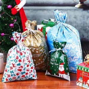 Drawstring Christmas Gift Bags (15 Sets)