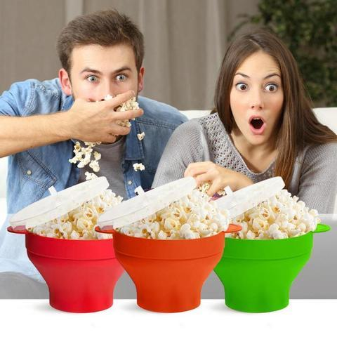 Silicone Popcorn Bucket Bowl Microwave Eco-friendly Popcorn Bucket Bowl