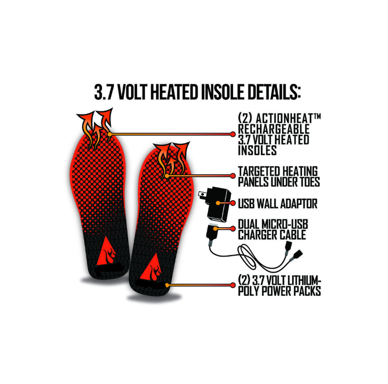 Rechargeable Battery Heated Insoles
