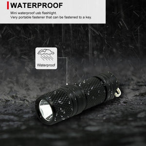 Pocket Mini LED Flashlight USB Rechargeable