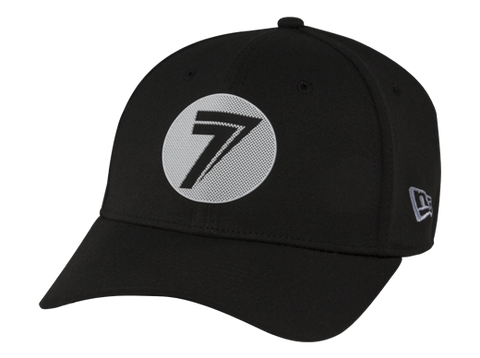 GORRA SEVEN DOT STRETCH-FIT- NEGRO/BLANCO