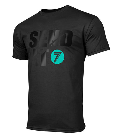 PLAYERA SEND IT - NEGRO/NEGRO