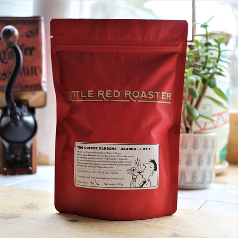 250g of Ugandan roasted coffee from Little Red Roaster