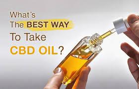 Best way to take cbd oil