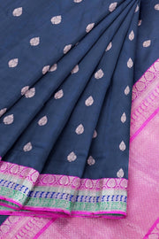 Black banarasi  saree