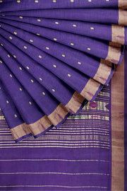 Purple cotton paithani