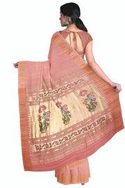 Baby pink cotton paithani