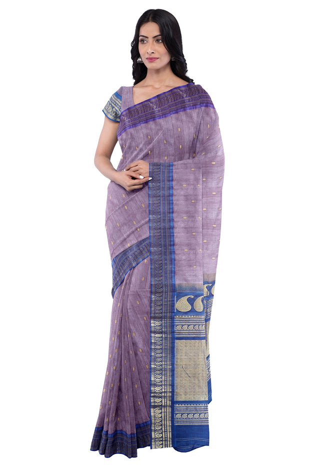 Grey cotton silk gadwal