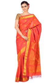 Two tone Peach orange gadwal