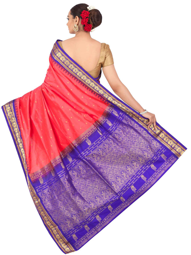 Buy Bright pink gadwal with purple border