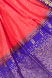 Bright pink gadwal with purple border