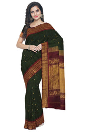 Dark green cotton silk gadwal