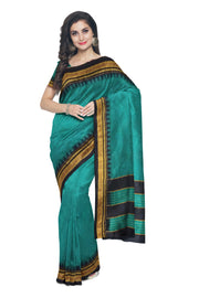 Peacock green irkal with black border
