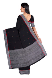 Black jamdani saree