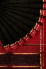 Black maheshwari saree