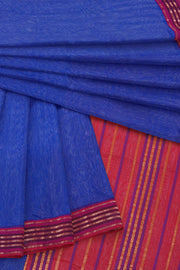 Blue maheshwari saree