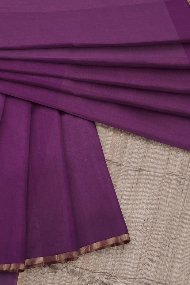 Purple maheshwari saree
