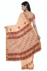 Peach maheshwari saree